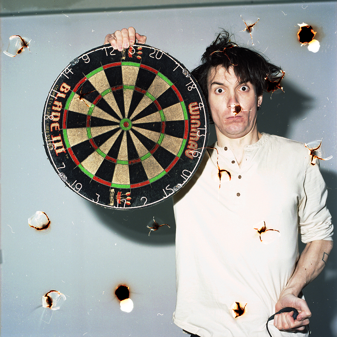 old name: Self Portrait With Dart Board